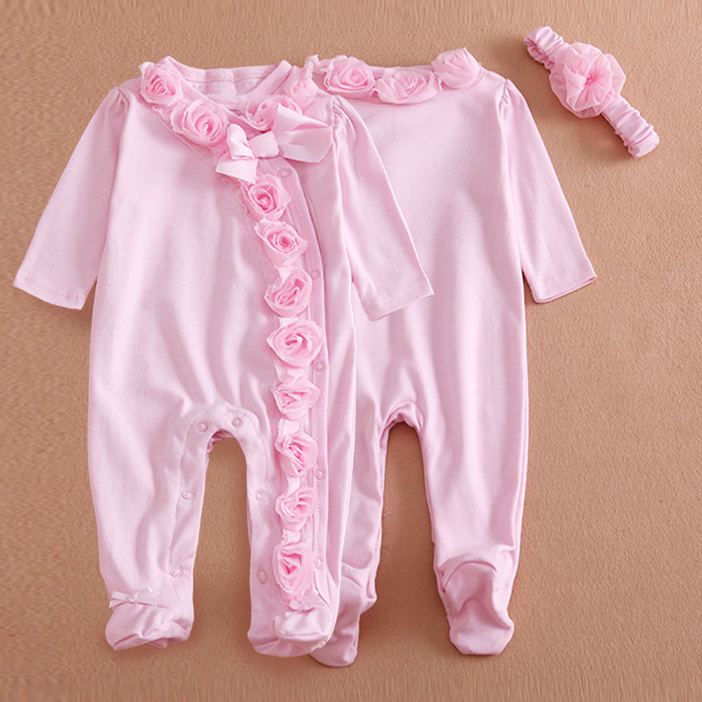 Autumn Winter Princess Style Newborn Baby Girl Clothes Girls Lace Rompers+Hats Baby Clothing Sets Infant Jumpsuit Gifts 2017 new newborn baby girl clothes air cotton winter thicken coveralls rompers princess lace infant girls clothing set jumpsuit hats