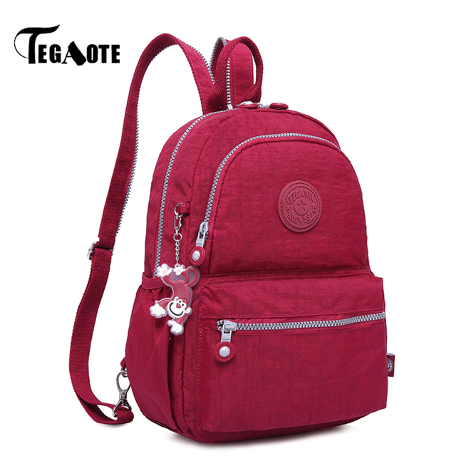 be9c49a84cfb TEGAOTE Small Mini Backpack for Teenage Girl Infantil Backpacks Bolsas  Mochila Feminina Escolar Solid Nylon Women