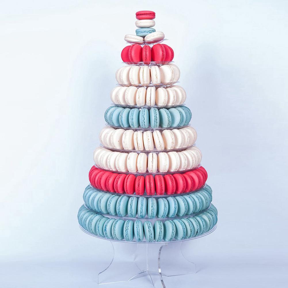 10 Tiers anniversaire fête d'anniversaire boulangerie magasin gâteau Macaran présentoir tour