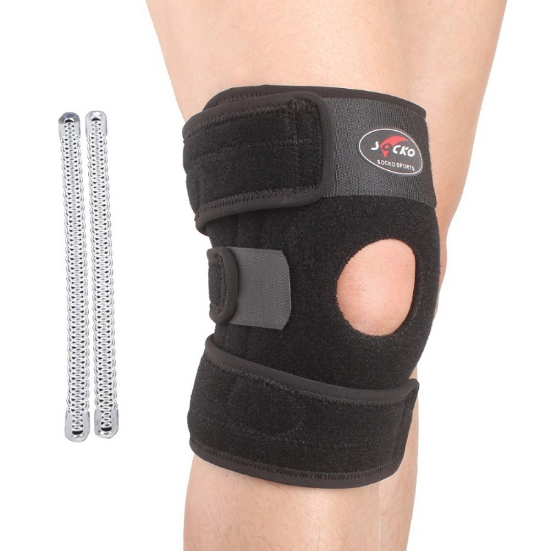 Free shipping adjustable sports leg knee support brace for Knee wall support