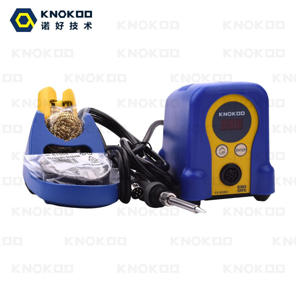 70W 110V/220V KNOKOO FX888D Digital Display Soldering Station with FX8801 Soldering Iron and T18-B Soldering Tips knokoo di3000 holder for esd safe digital display intelligent temperature control soldering machine with c245 solder tips