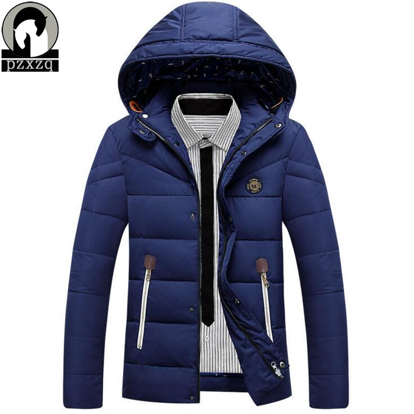 New brand jacket men winter warm thicken down jackets zipper hooded wear windproof suit jacket high