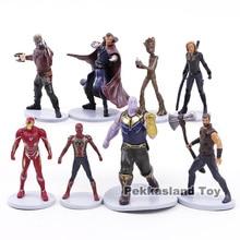 Avengers Infinity War Thanos Thor Spiderman Iron Man Star Lord Black Widow Doctor Strange  PVC Figures Toys 8pcs/set