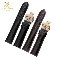 Genuine Leather Bracelet Mens Watchband For AR2425 2411 2463 Watch Strap 18 19 20 21 22mm