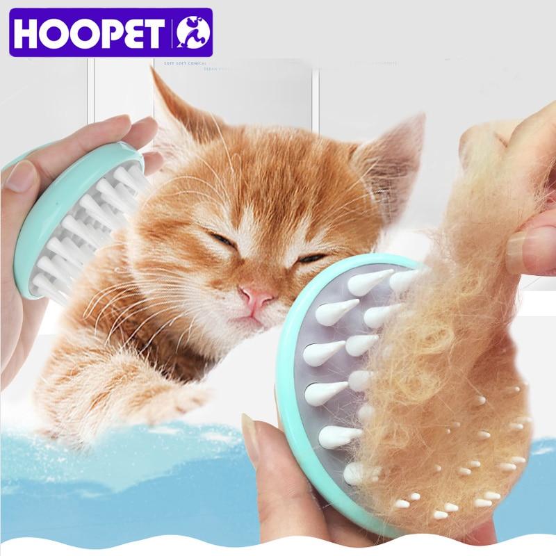 HOOPET Comfortable Pet Brush Grooming Dog Puppy Cat Washing Cheaning Bath Brush Comb Dog Massage Shower