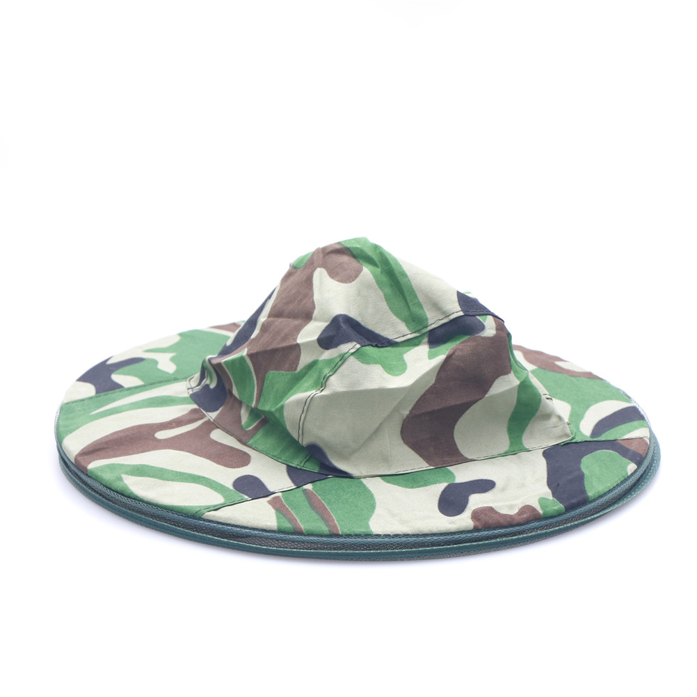1pcs Mosquito Green Camouflage Insect Bug Mesh Head Net Face Protector Cap Outdoor Garden Supplies Anti-mosquito Camouflage Hat