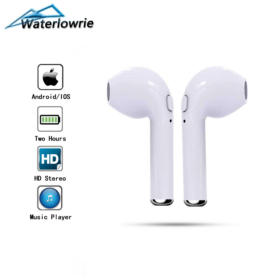 WaterLowrie Mini Bluetooth Wireless Earphone Handsfree Call Music Earpiece In-ear Earplugs With Mic For Apple iPhone IOS iPad ...