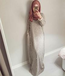 Большой размер, мусульманский халат для взрослых, украшенный бисером, мусульмане, турецкий, Дубай, абайя, мусульманский халат, арабское покл...