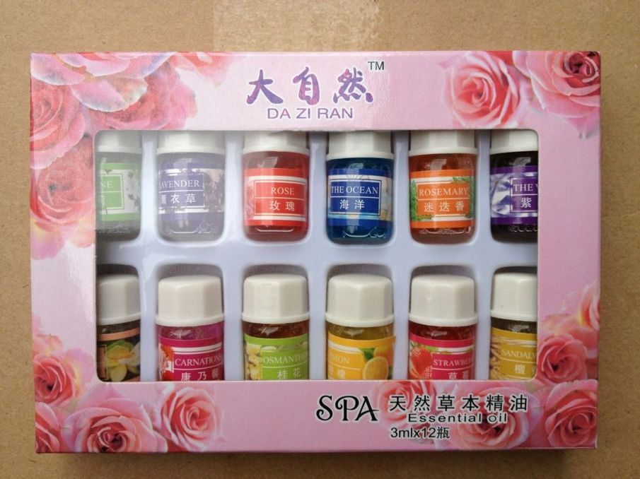 12 bottles SPA Essential Oils with aromatic aromatherapy oil household daily supplies cured flavor Home Air care