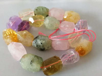 loose beads baroque faceetd amethyst/ prehnite/ rose/quartz 18 20mm for making jewelry necklace 15inch FPPJ wholesale