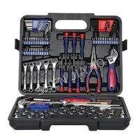 165PC Tool Set Home Tools Household Tool Set Wrench Screwdriver Plier Socket Set Repair Car Wheel Ratchet Wrench Set
