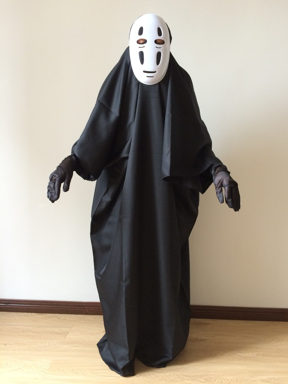 Ghibli Kaonashi Studio Halloween Spirited Away Cosplay No Face Costume Faceless Costume Costume Costumes Halloween Costumescostume On Halloween Aliexpress