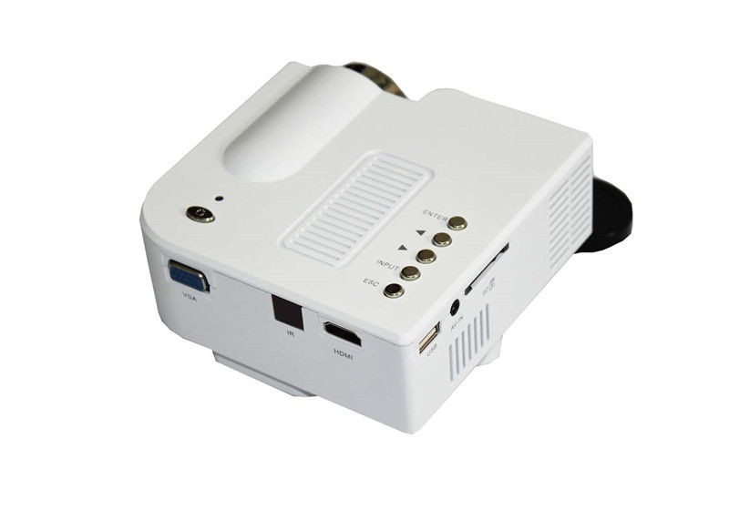 UC28+ Portable mini LED Projector projecteur Home Theater HDMI VGA AV USB SD lamp Remote Control proyector (16)