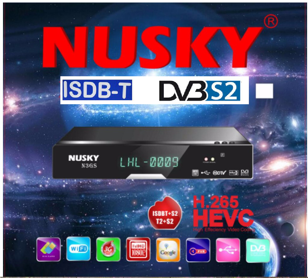 Nusky N3GSI Nusky N3GST South America satellite receiver with iks sks iptv free pk tocomfree s929 acm/t цена