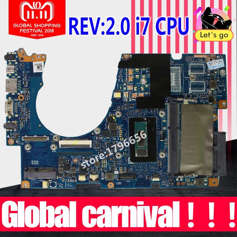 UX303LA Motherboard REV2.0 I7 For ASUS UX303LN UX303 UX303L UX303LNB laptop Motherboard UX303LA Mainboard UX303LA Motherboard