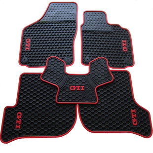 waterproof rubber HK right-hand steering wheel car floor mats for VolkswagenGolf 5/6 Scirocco with GTI/TSI/R/R/GOLF logo special pads slip resistant rubber texture waterproof senior envionmental latex car floor mats for hyundai elantra