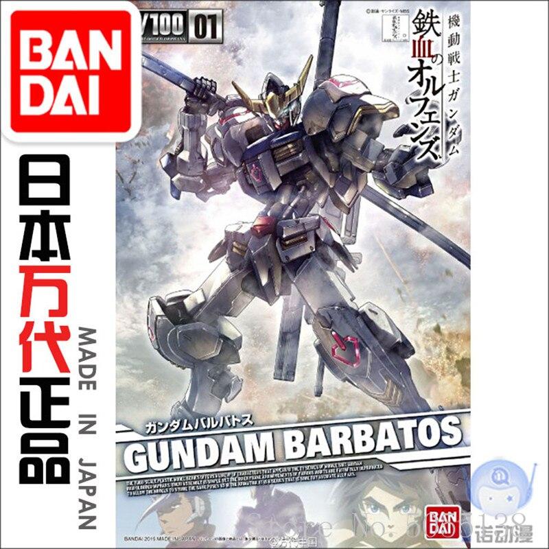 Bandai Gundam Model w magazynie zgromadzenie 01886 telewizor z dostępem do kanałów 01 1/100 Barbatos Gundam ROBOT rysunek Anime zabawki rysunek prezent w Figurki i postaci od Zabawki i hobby na  Grupa 1