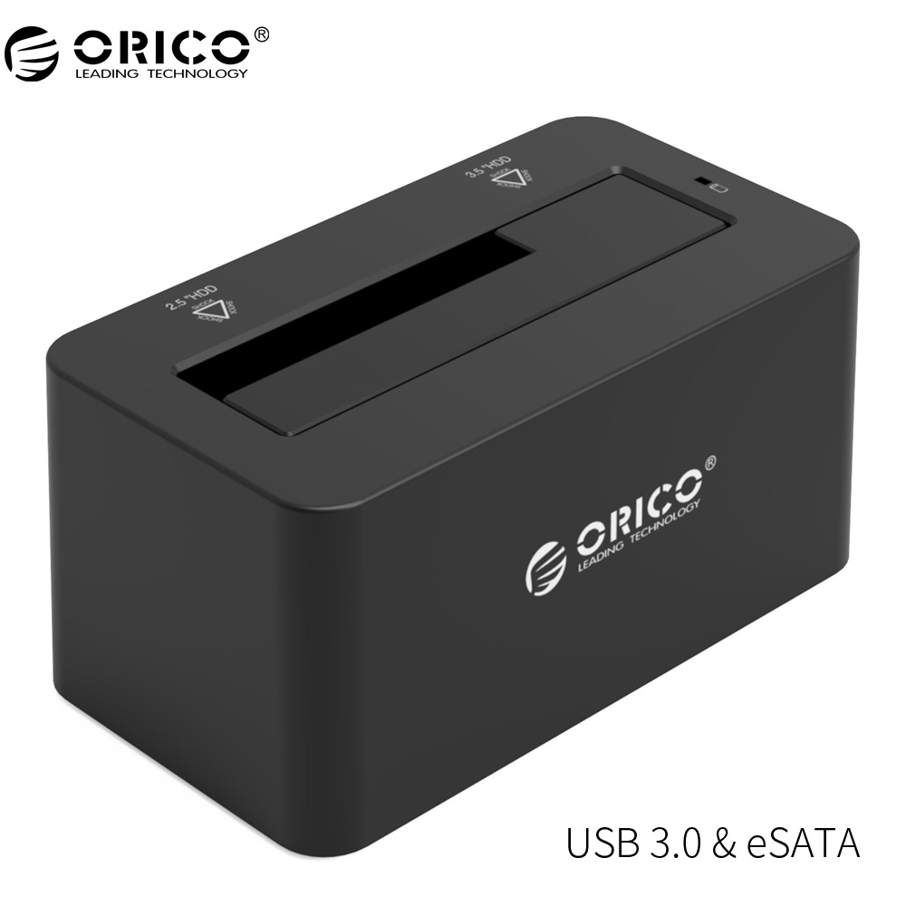 spinido external hard drive docking station sata to usb function usb 3 0 to 3 5 or 2 5 inch high speed offline clone 2 sizes ORICO 6619SUS3 eSATA HDD Enclosure 5Gbps Super Speed USB 3.0 to SATA& eSATA Hard Drive Docking Station for 2.5''/3.5 Hard Drive