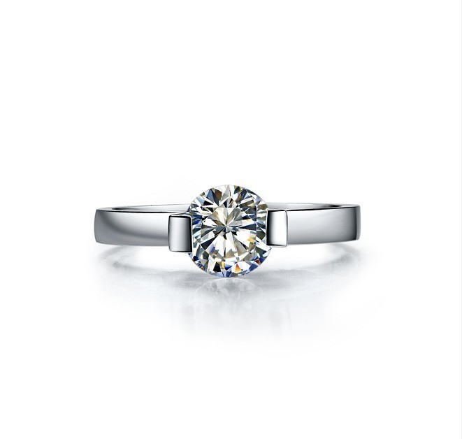 Top Brand Style 1CT Solitaire Synthetic Diamant 750 Gold Wedding