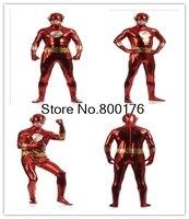 Flash Traje 2018 Nuevo 3D Sombra fullbody spandex traje de superhéroe Cosplay zentai Traje de niños adultos cosplay traje S-3XL