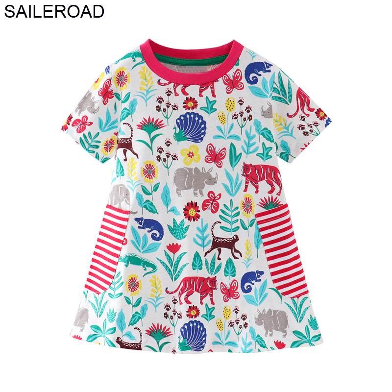 SAILEROAD 7 niñas ropa bebé niñas vestido de verano de 2019 vestido de princesa para las niñas ropa de algodón ropa de niños trajes