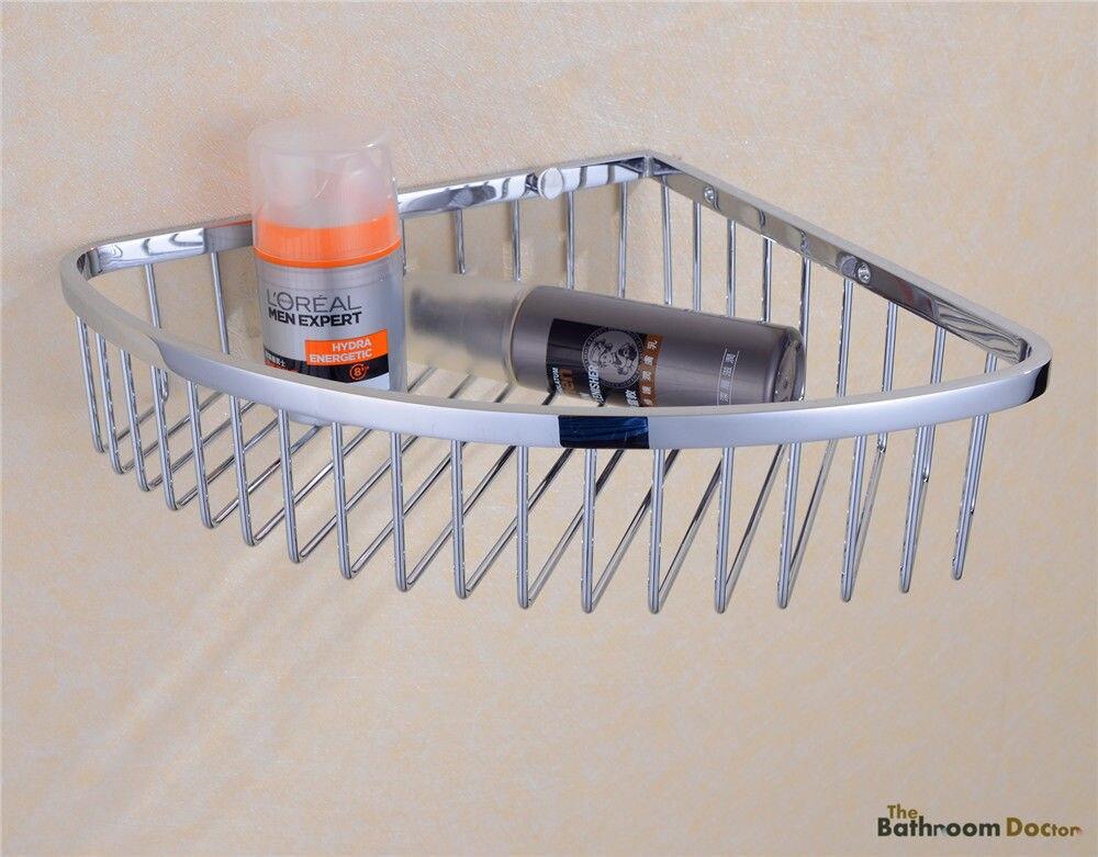 Bathroom Caddies Stainless Steel Corner Shower Wire Wall Basket