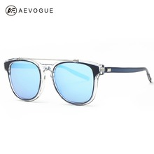 AEVOGUE Sunglasses Women Brand Designer Acetate Frame Double Bridge Sun Glasses Coating Lens Classic With Box UV400 AE0367
