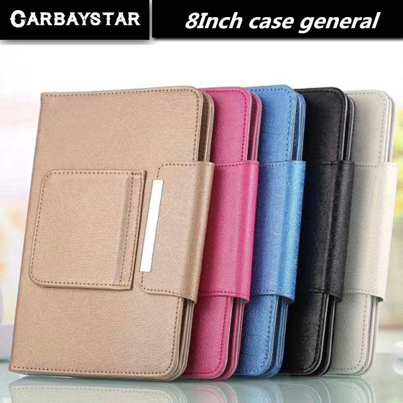 CARBAYSTAR Hot Selling Super Deal Universal High quality PU Leather Stand Cover Case For 8 Inch Tablet PC general cover 5 Color