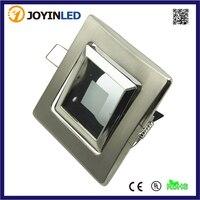 Zinc Alloy Lighting Fixture Square Dia 50mm GU5 3 MR16 GU10 LED Halogen Bulb Holder Satin