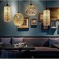 Классический дизайн LED лампа подвесной светильник Диаметр 15/20 см 3D красочное покрытие стекло зеркало шар подвесной светильник