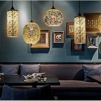 Classic design LED lamp pendant light diameter 15/20cm 3D colorful Plated Glass Mirror Ball hanging light fixture