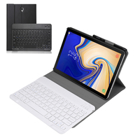 Bluetooth Keyboard Case for Samsung Galaxy Tab S4 10.5 2018 Cases Lightweight PU Leather Stand Cover for Tab S4 T830 T835 Coque