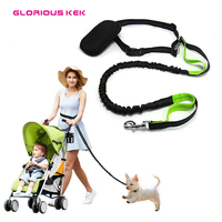 Hands Free Dog Leash For Running Walking Hiking NEW Reflective Pet Dog Leads Elastic Bungee Dog