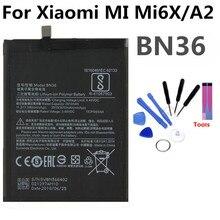 BN36 Mobile Phone Battery For Xiaomi MI MI6X 6X A2  Real Capacity 3010mAh Replacement Li-ion Battery original xiaomi bn36 replacement battery for xiaomi mi 6x mi6x authentic phone batteries 3010mah