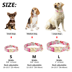 Image 5 - Dog Tag Collar Personalized Pet Puppy Nameplate Collar Custom Nylon Engraved Cat Dog ID Collars Adjustable For Medium Large Dogs