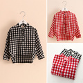 Baby girl plaid shirt  2017 spring child Long Sleeve School Girl Shirt children's clothing child single breasted shirt