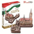 Children toy gift 3D puzzle paper model assemble game MC128H Matyas templom halaszbastya The Hungarian Church cathedral building