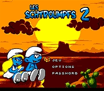 Les Schtroumpfs 2 Game Cartridge Newest 16 bit Game Card For Sega Mega Drive / Genesis System