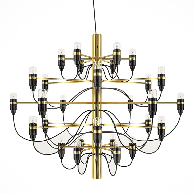 Nordic summer Multiple Chandelier Lighting plating metal body personality simple dining room villa led lamp 30 head 50 light E14 multiple chandelier sale chandeliers dining room bedroom lamp villa simple lighting d8 056 iron stores zx20