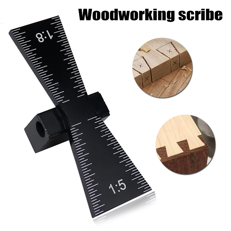 Dovetail Jig Guide Marker Aluminum Alloy Scriber Wood Joints Gauge Woodworking Tool QJS Shop