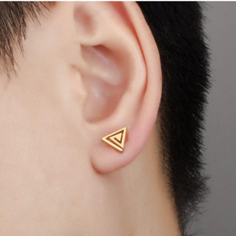 MiLaTu Personality Black/Silver/Gold color Stud Earrings For Men ...