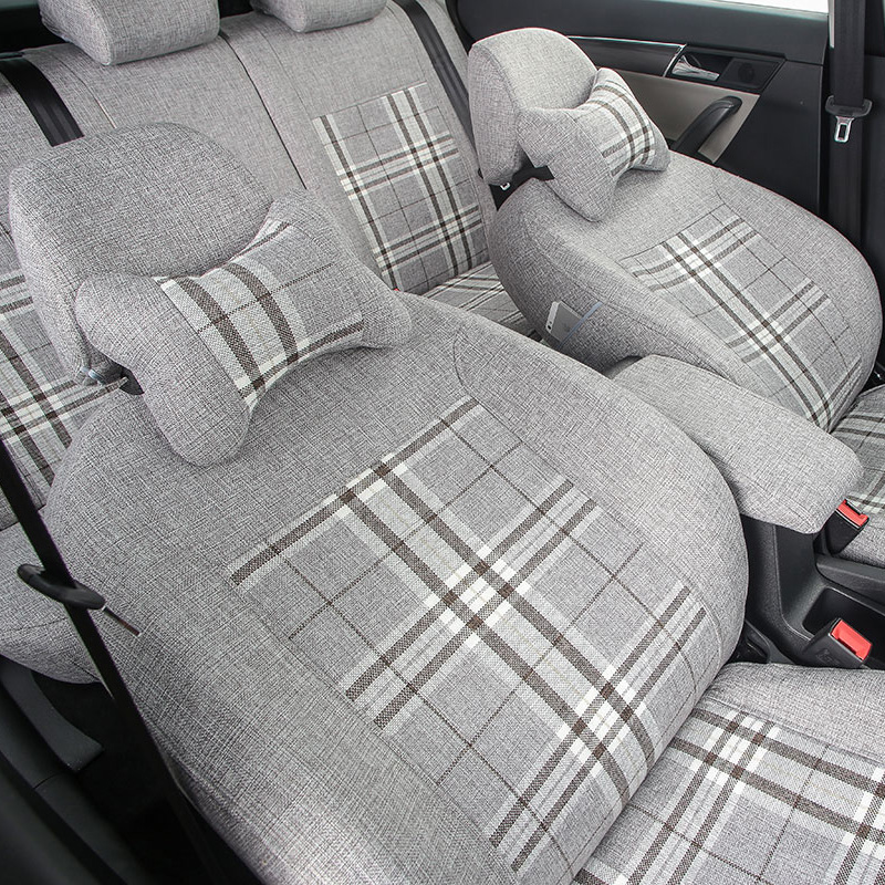 Yuzhe flax custom car seat covers For Land Rover Discovery Sport freelander Range Sport Evoque Defender car accessories styling