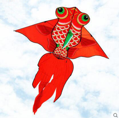 Free Shipping High Quality 1.6m Carp Fish Kite With Handle Line Weifang Kite Flying Dragon Kite Factory Ripstop Nylon Fabric Toy