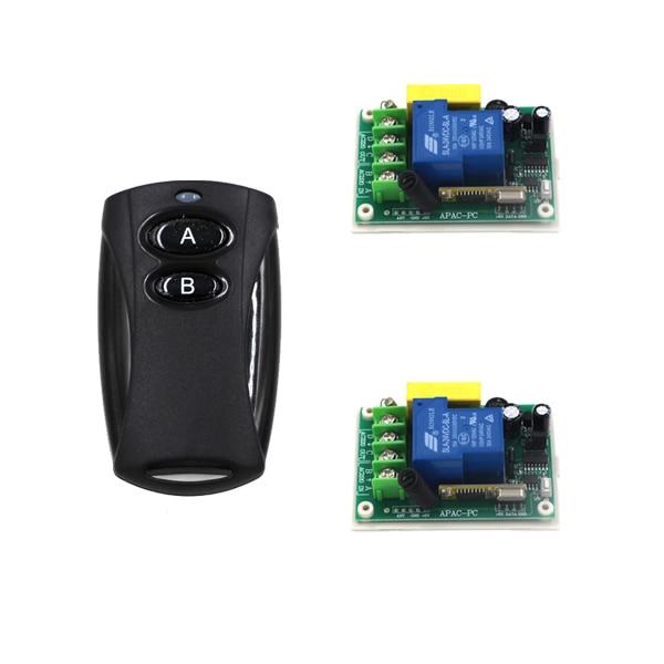 Jog/ Self-lock/ Inter-lock AB Type Black Transmitter AC 220V 30A 1 Channel Smart Wireless Remote Control Switch SKU: 5523