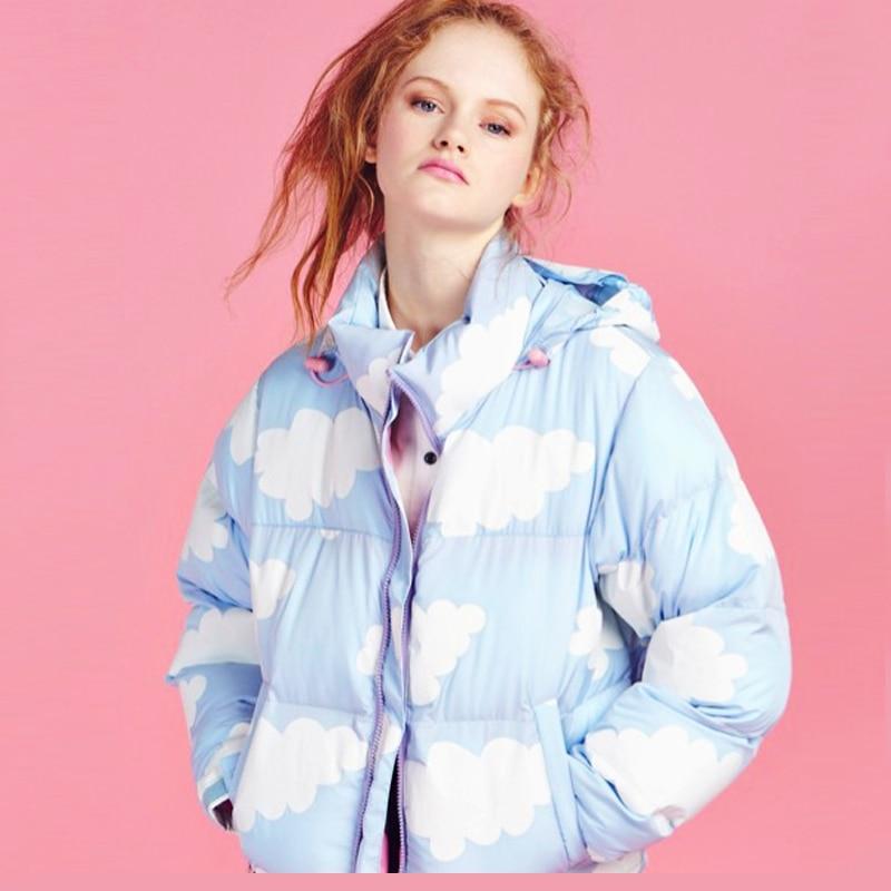 Fahion England Winter New Women Hooded Cotton Padded Jacket Coat Parka Overcoat Velvet Thicken Warm Outwear