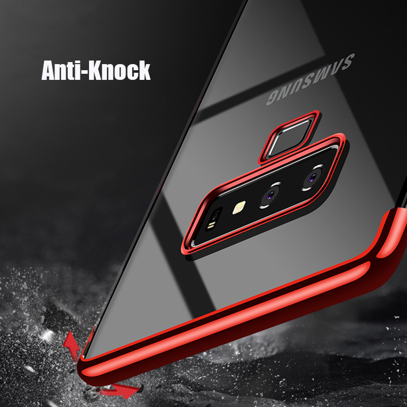 For Samsung Galaxy Note 9 Case Luxury Laser Plating Soft Clear Back Cover Phone Cases For Samsung Note 9 Note9