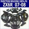 Gloss Black For Kawasaki Ninja Fairing Kit Zx6r 2007 2008 07 08 Injection Fairings S06
