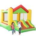 Yard fedex envío libre colorido inflable gorila dual diapositiva castillo inflable con techo oferta especial para asia