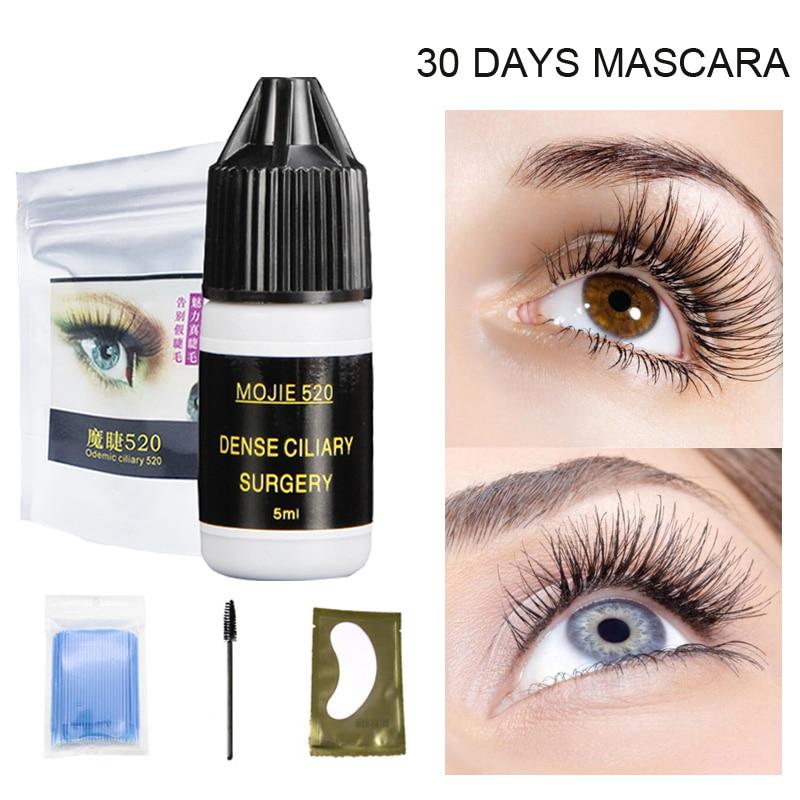 Professionnel Cils Teinte 30 Jours Long Durable Mascara Maquillage Super Long Naturelle Permanente Des Cils Noir Couleur Étanche