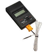 New TM-902C Black K Type Digital LCD Temperature Detector Thermometer Industrial Thermodetector Meter + Thermocouple Probe
